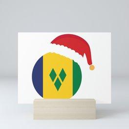 Saint Vincent  Christmas sant claus flag designs  Mini Art Print