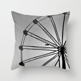 The Wheels Fly - Gray Throw Pillow