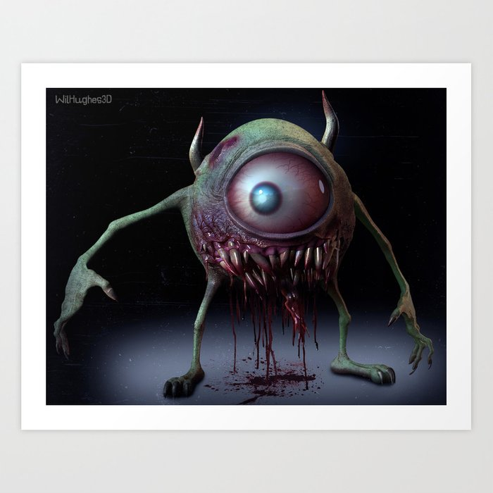 Mike Wazowski Art Print