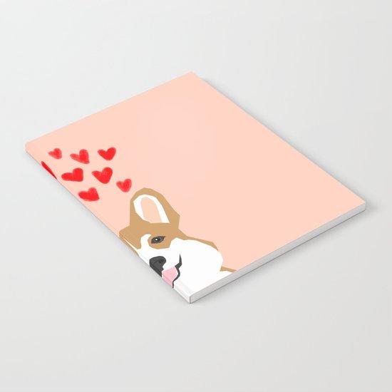 Valentines - Love Corgi  Notebook