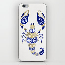 Scorpion – Navy & Gold iPhone Skin