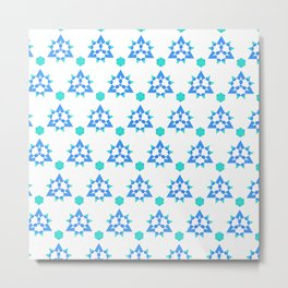 Turquoise Triangles Metal Print