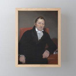 Eli Whitney Portrait - By Samuel Morse Framed Mini Art Print