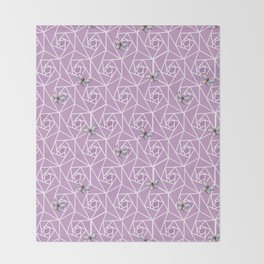 Roses & Butterflies Throw Blanket