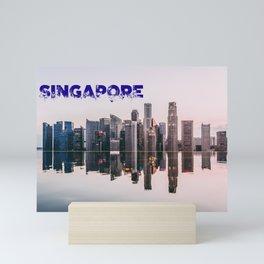 Singapore Skyline 2018 Mini Art Print
