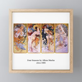 "Alfons Mucha, "" Four Seasons (1895)"" Framed Mini Art Print"