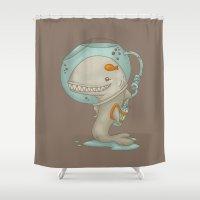 evolution Shower Curtains featuring Evolution by Lili Batista