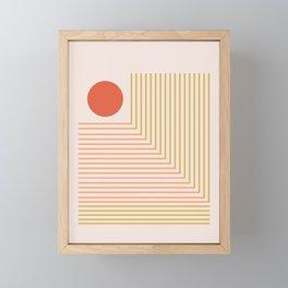 Lines & Circle 02 Framed Mini Art Print