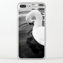 White swan. Clear iPhone Case