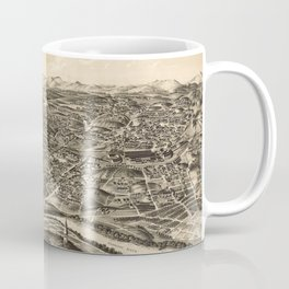 Vintage Pictorial Map of Roanoke Virginia (1891) Coffee Mug