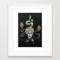 ohm Framed Art Prints featuring Ohm by Mr Feris