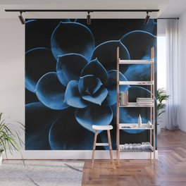 Dark Blue Succulent Plant #decor #society6 #homedecor Wall Mural