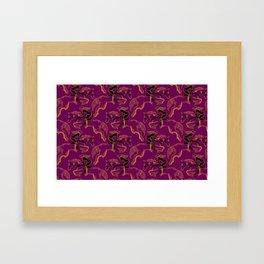 Cooper Horse in Purple Framed Art Print