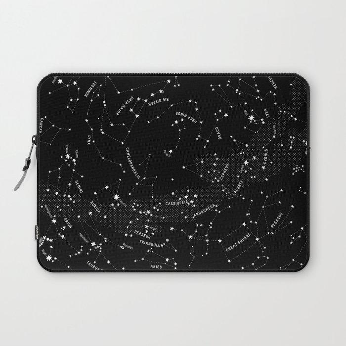 Constellation Map - Black Laptop Sleeve