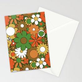 Funky Daisy Floral in Harvest Stationery Cards