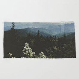 Smoky Mountains - Nature Photography Beach Towel