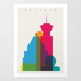 Shapes of Vancouver. Accurate to scale. Art Print