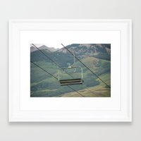 ski Framed Art Prints featuring ski by Lexi *