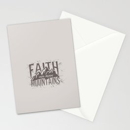 Faith Can Move Mountains Stationery Cards