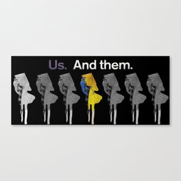 Us and Them 2 Canvas Print
