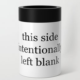 This Side Intentionally Left Blank Can Cooler