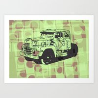 truck Art Prints featuring Truck by Hans Eiskonen