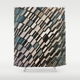 Abstract Architectural Taupe Shower Curtain