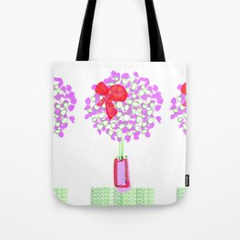 Flower Tree with Bow Tote Bag