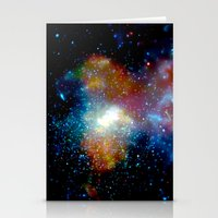 milky way Stationery Cards featuring Milky Way by Upperleft Studios