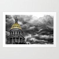 Denver, Co Capitol  Art Print