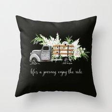 White Flower Farm Throw Pillow