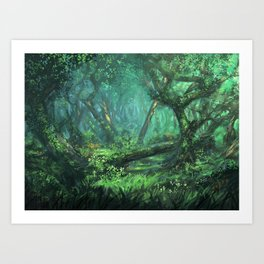 Forest of the Wise Art Print
