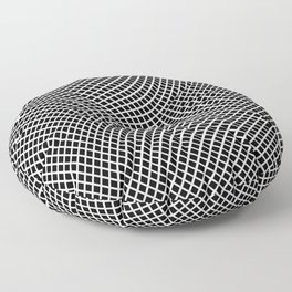 Black And White Mesh Twist Floor Pillow