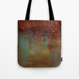 Copper, Gold, and Turquoise Textures Tote Bag