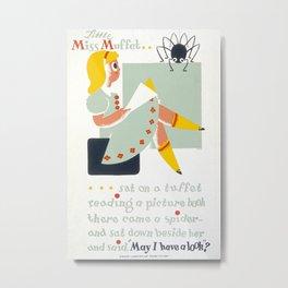 Vintage poster - Little Miss Muffet Metal Print