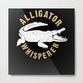 Crocodile Whisperer Metal Print