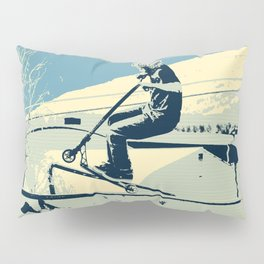 Getting Some Serious Air - Scooter Boy Pillow Sham