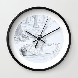 Swan Love Wall Clock