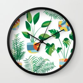 Potted Plants Wall Clock