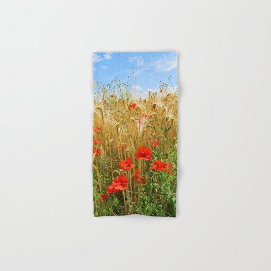 Poppy in a wheatfield Hand & Bath Towel