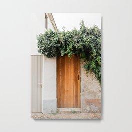 Beautiful wooden gate door | The Netherlands travel photo | Colourful art print Metal Print
