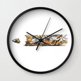 Music and Writing Wall Clock