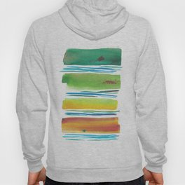 181026 Lines & Color Block 1 | Watercolor Abstract | Modern Watercolor Art Hoody