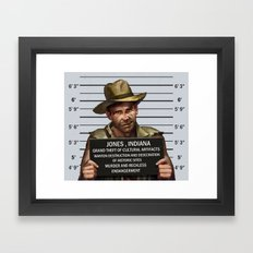 Indiana Jones Mugshot Framed Art Print