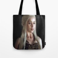 khaleesi Tote Bags featuring Stormborn by AudraV