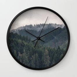 Pacific Northwest Forest - Nature Photography Wall Clock