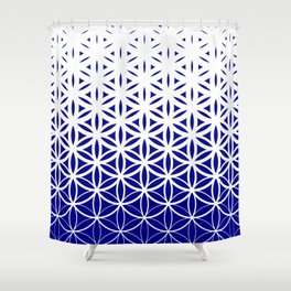 Sacred Geometry Dark Blue Shower Curtain