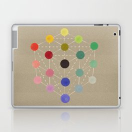 Colour cube (black point), Manual of the science of colour by W. Benson, 1871, Remake, vintage wash Laptop & iPad Skin