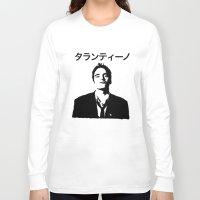 quentin tarantino Long Sleeve T-shirts featuring QUENTIN TARANTINO by Tia Hank
