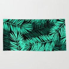 Tropical Palm Leaves II Beach Towel